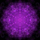 Dark violet round pattern. Dark violet valentine calligraphy round pattern with hearts (vector eps 10 vector illustration