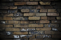 The dark wall. In the alley Stock Photography