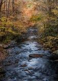 The Dark Water of Cataloochee Creek Stock Photos