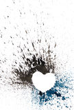 Dark watercolor heart. Stock Photos