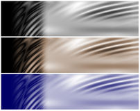 Dark Waves Headers Stock Photos