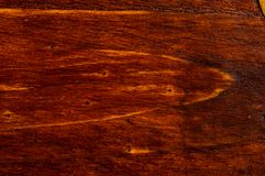Dark weathered teak wood with copper. Texture dark weathered teak wood with copper details, close up Royalty Free Stock Photos