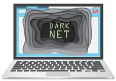Dark web concept vector illustration Royalty Free Stock Photo