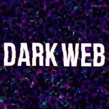 Dark web poster royalty free illustration