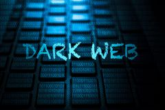 Dark web keyword on keyboard. Dark web keyword concept on computer keyboard technology background macro shot vector illustration