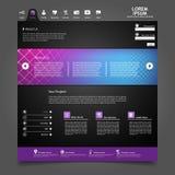 Dark Website Template Stock Images