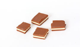 Dark and white cocoa nut bars Stock Images