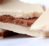 Dark and white cocoa nut bars Stock Image