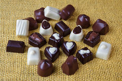 Dark, white and milk chocolate Stock Image