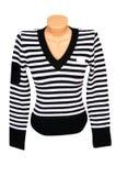 Dark-white sweater on a white. Royalty Free Stock Photos