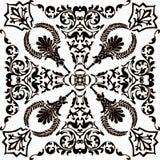 Dark and white symmetric ornament Royalty Free Stock Photos