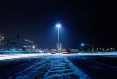 Dark winter street Stock Image