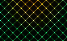 Dark wired fence glowing background Stock Photography