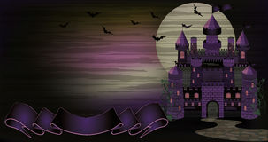 Dark Witch castle banner Stock Photo