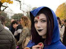 Dark witch at Lucca Comics and Games 2017 Royalty Free Stock Photo