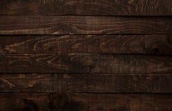 Dark wood background. Dark brown wood background or texture of plank Stock Photo