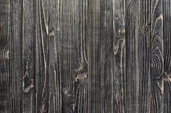 Dark Wood Background. Panel of Vertical Wooden Aged Boards Royalty Free Stock Images
