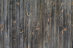 Dark Wood Background. Panel of Vertical Wooden Aged Boards Stock Images