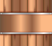 Dark wood background. Vector illustration. Design retro Stock Image