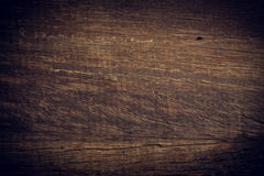Dark wood background, wooden board rough grain surface Royalty Free Stock Images