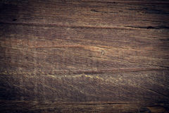 Dark wood background, wooden board rough grain surface Royalty Free Stock Photography