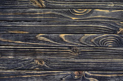 Dark Wood Background. Wooden Old Boards in a Horizontal Direction Royalty Free Stock Photo