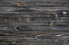 Dark Wood Background. Wooden Old Boards in a Horizontal Direction Stock Photos