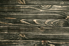 Dark Wood Background. Wooden Old Boards in a Horizontal Direction Royalty Free Stock Image