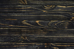 Dark Wood Background. Wooden Old Boards in a Horizontal Direction Royalty Free Stock Photography
