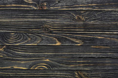 Dark Wood Background. Wooden Old Boards in a Horizontal Direction Stock Image