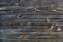 Dark Wood Background. Wooden Old Boards in a Horizontal Direction Royalty Free Stock Photos