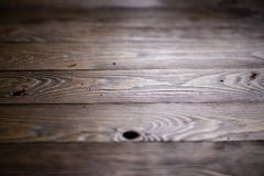 Dark wood board or table top at the workshop royalty free stock image