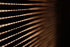 Close-up of wood curtains Royalty Free Stock Image