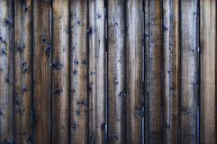 Dark wood fence Royalty Free Stock Image