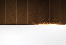 Wood and glowing sparks theme business background Stock Images