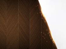 Wood and glowing sparks theme business background Royalty Free Stock Images
