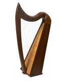 Dark wood harp Royalty Free Stock Image