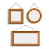 Dark Wood Isolated Frames Set Royalty Free Stock Photo