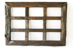 Dark Wood Picture Frame. Royalty Free Stock Images