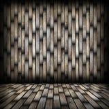 Dark wood planks finishing on interior backdrop Royalty Free Stock Photos