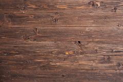 Dark wood texture. Background dark old wooden panels Stock Photography