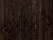 Dark wood texture. Background dark wooden panels. Royalty Free Stock Image