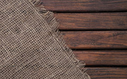 Dark wood texture and fabric. Textiles and wood. Textile texture. Royalty Free Stock Photo