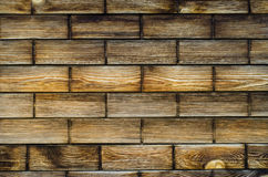Dark wood bricks stock image