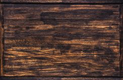 Dark wood texture, wooden frame Stock Photography
