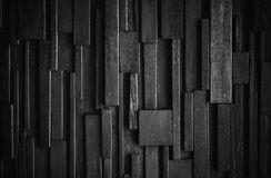 Dark wood wall texture, black wood background vignette border Stock Images