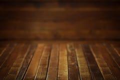 Dark wooden background. Empty dark wooden room/background Stock Image