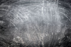 Dark wooden background with flour dust Royalty Free Stock Photography