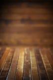 Dark wooden background. Dark wooden room or background Stock Photos