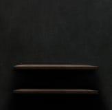 Dark wooden background texture. Wood shelf. Grunge industrial interior royalty free stock photos